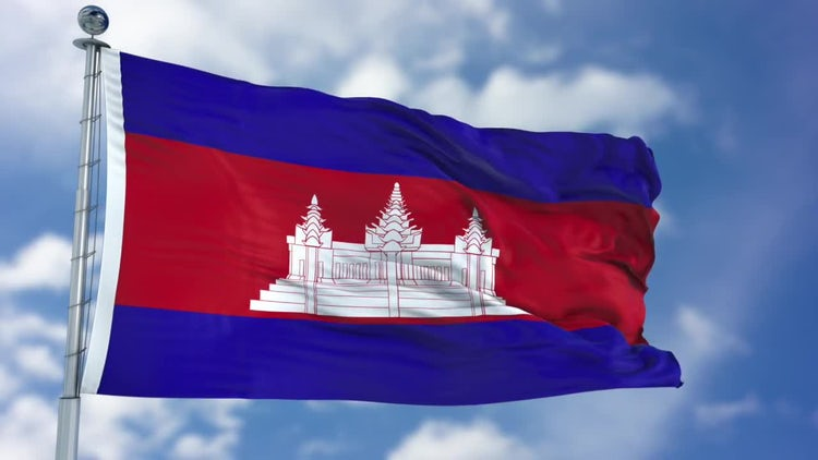 Cambodia Flag Animation: Stock Motion Graphics