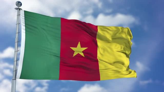 Cameroon Flag Animation: Stock Motion Graphics