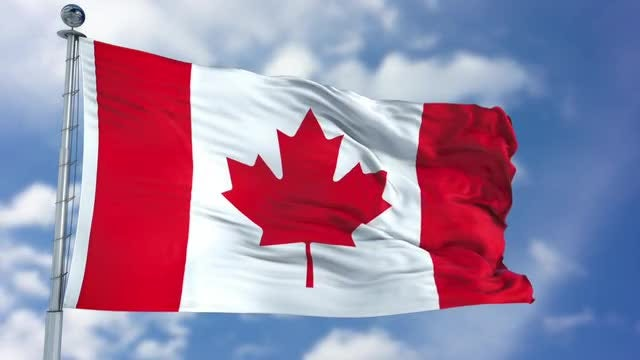 Canada Flag Animation: Stock Motion Graphics