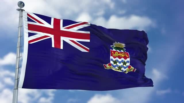 Cayman Islands Flag Animation: Stock Motion Graphics
