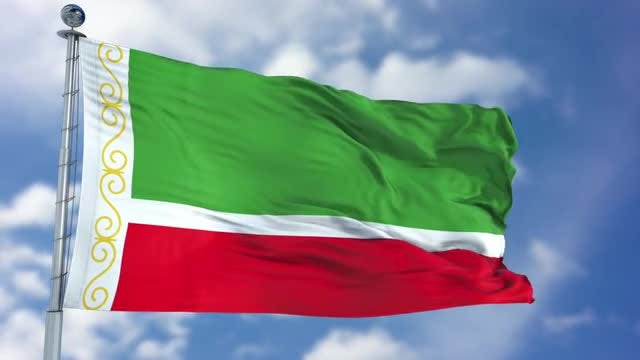 Chechen Republic Flag Animation: Stock Motion Graphics
