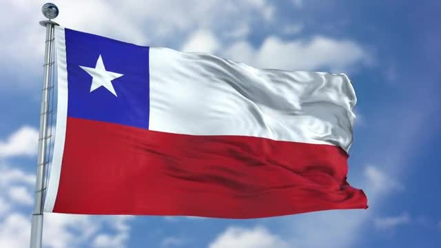 Chile Flag Animation: Stock Motion Graphics
