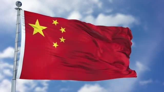 China Flag Animation: Stock Motion Graphics