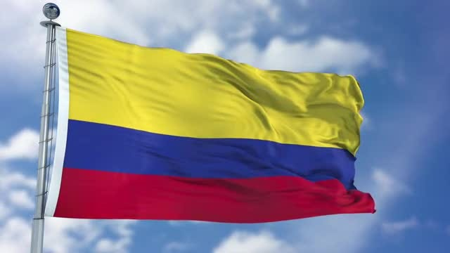 Colombia Flag Animation: Stock Motion Graphics