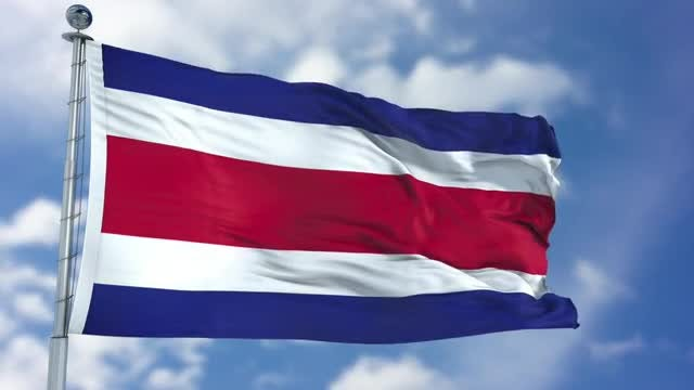 Costa Rica Flag Animation: Stock Motion Graphics