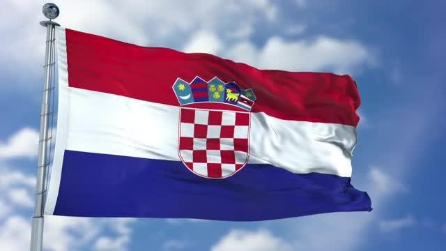 Croatia Flag Animation: Stock Motion Graphics
