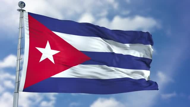 Cuba Flag Animation: Stock Motion Graphics