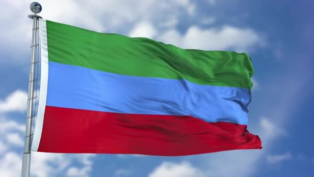 Dagestan Flag Animation: Stock Motion Graphics