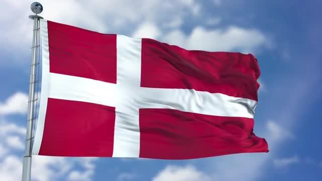 Denmark Flag Animation: Stock Motion Graphics