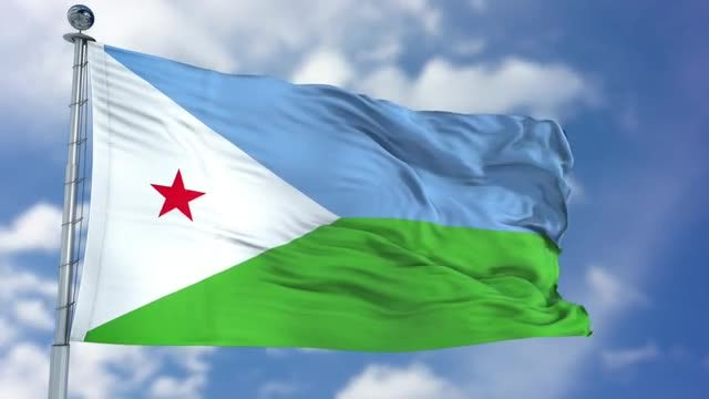 Djibouti Flag Animation: Stock Motion Graphics