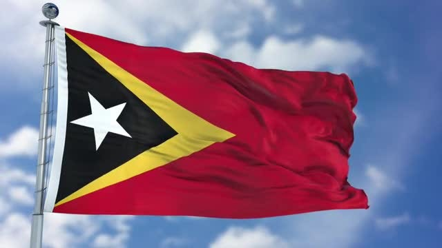 East Timor Flag Animation: Stock Motion Graphics