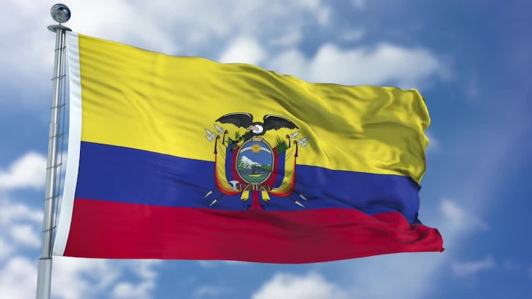 Ecuador Flag Animation: Stock Motion Graphics