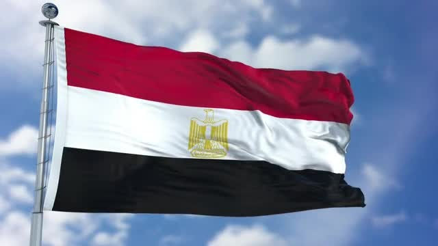 Egypt Flag Animation: Stock Motion Graphics
