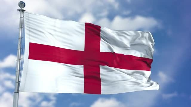 England Flag Animation: Stock Motion Graphics