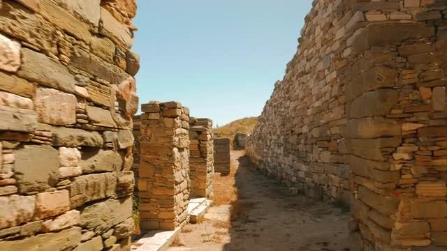 Ruins Of Ancient Greek Island : Stock Video