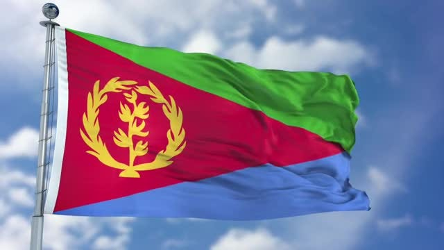 Eritrea Flag Animation: Stock Motion Graphics