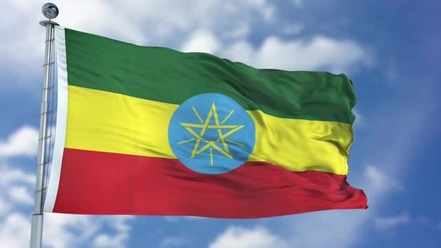 Ethiopia Flag Animation: Stock Motion Graphics