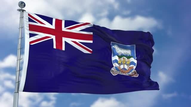 Falkland Islands Flag Animation: Stock Motion Graphics