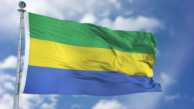 Gabon Flag Animation: Stock Motion Graphics