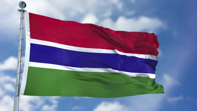 Gambia Flag Animation: Stock Motion Graphics