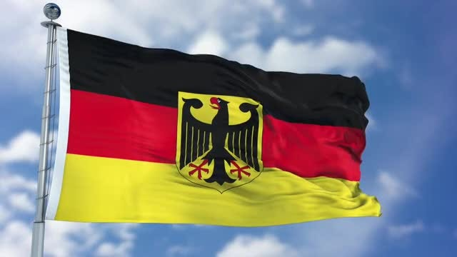 Germany Flag Animation: Stock Motion Graphics