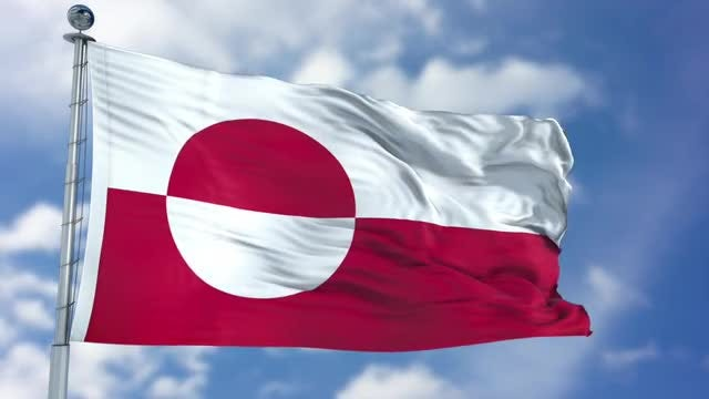 Greenland Flag Animation: Stock Motion Graphics