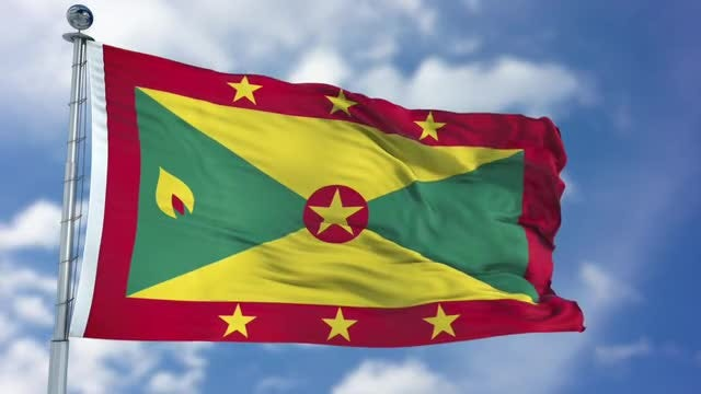 Grenada Flag Animation: Stock Motion Graphics