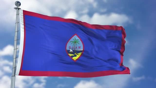 Guam Flag Animation: Stock Motion Graphics