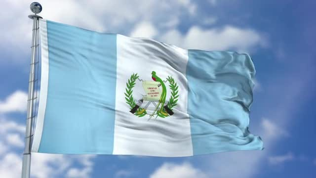 Guatemala Flag Animation: Stock Motion Graphics