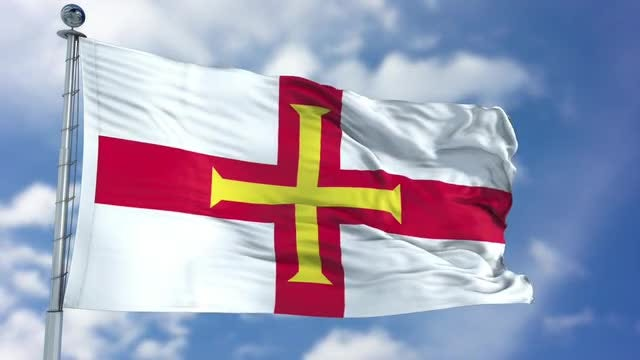Guernsey Flag Animation: Stock Motion Graphics