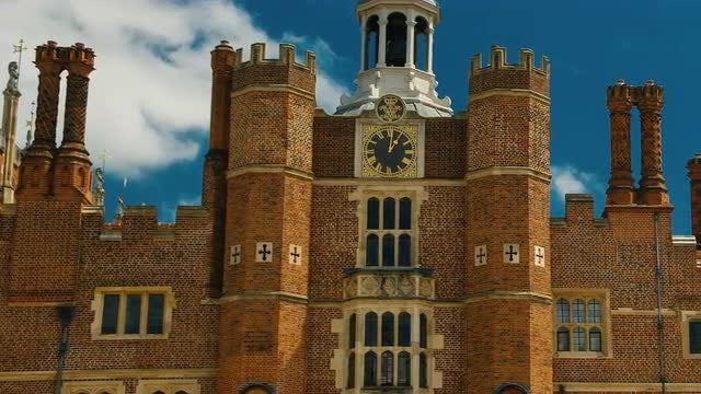 Hampton Court Palace, London, England, UK: Stock Video