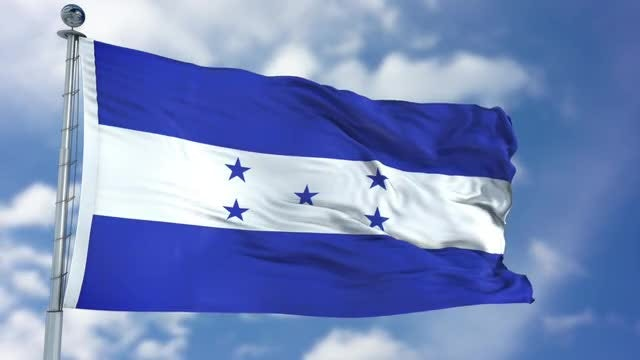 Honduras Flag Animation: Stock Motion Graphics