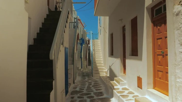 Traditional Limestone Houses Of Mykonos: Stock Video