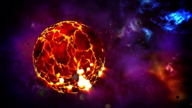 Birth Of The Planet Loop: Stock Motion Graphics
