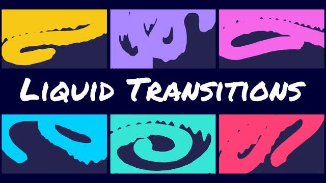 Colorful Liquid Transitions Pack: Stock Motion Graphics
