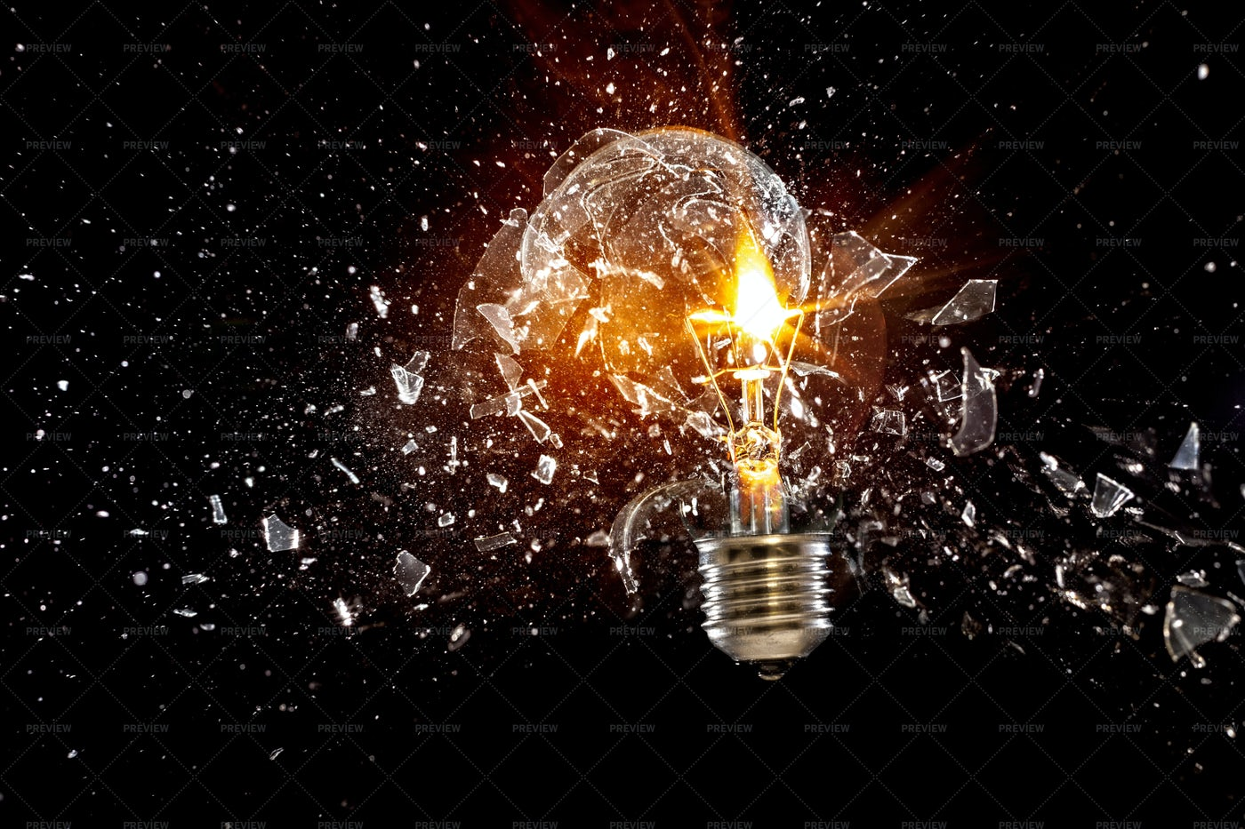 Exploding Light Bulb: Stock Photos