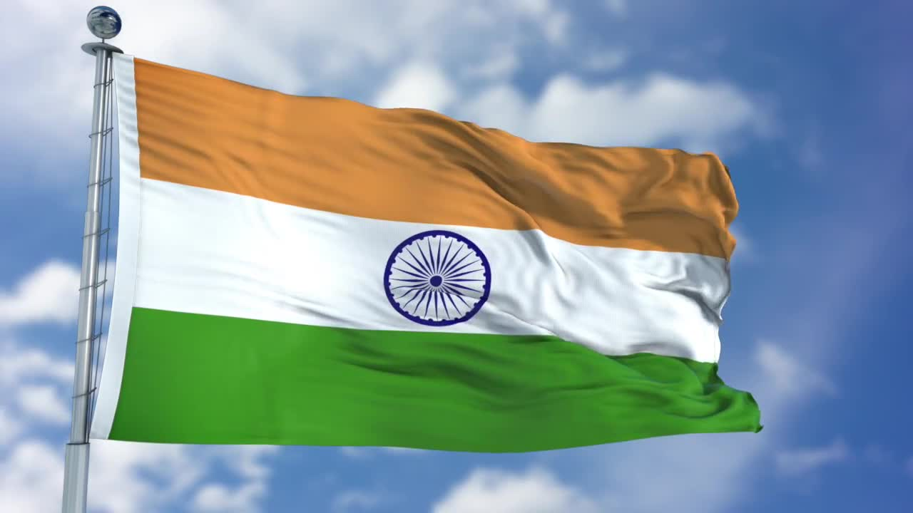 Indian Flag Animated: India Flag Animation - Stock Motion Graphics