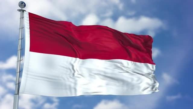 Indonesia Flag Animation: Stock Motion Graphics