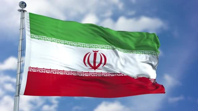 Iran Flag Animation: Stock Motion Graphics