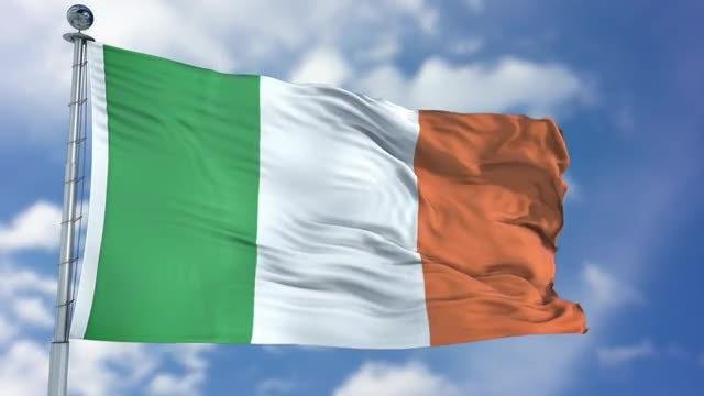 Ireland Flag Animation: Stock Motion Graphics