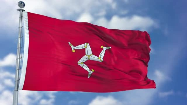 Isle of Man Flag Animation: Stock Motion Graphics