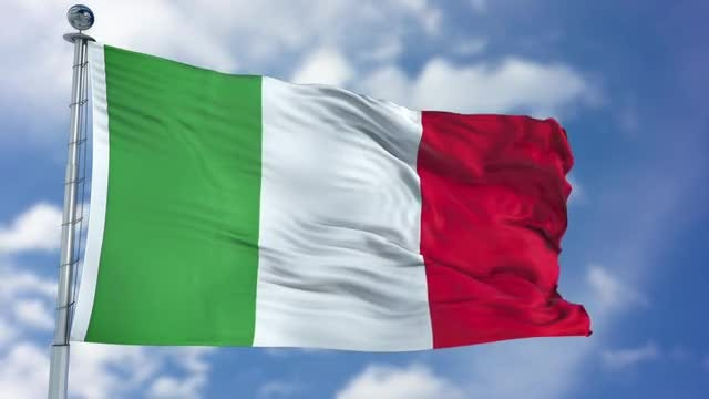 Italy Flag Animation: Stock Motion Graphics