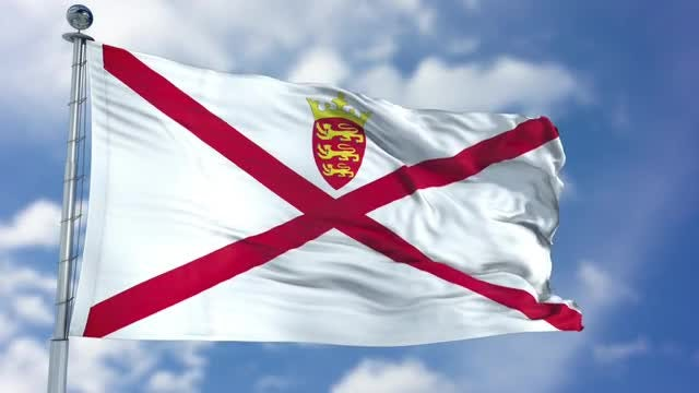 Jersey Flag Animation: Stock Motion Graphics