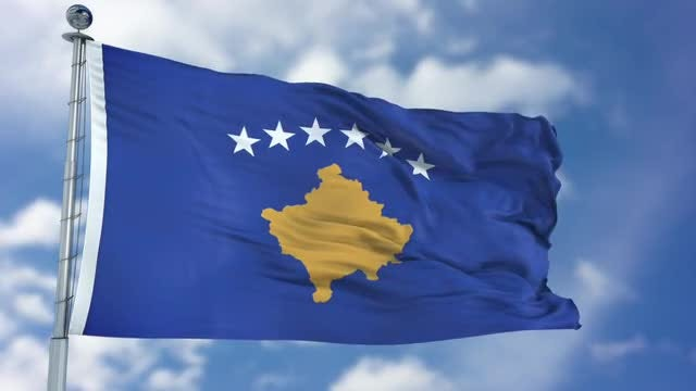Kosovo Flag Animation: Stock Motion Graphics