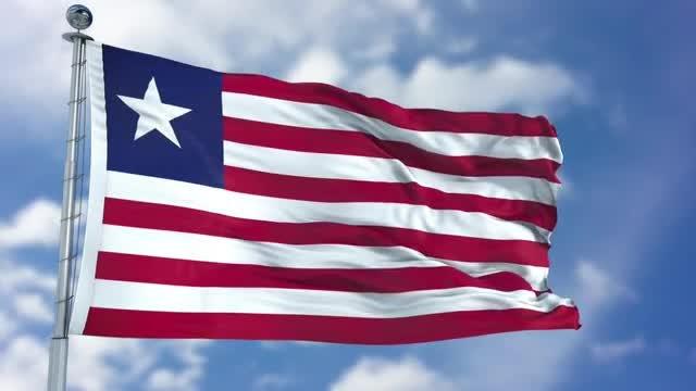 Liberia Flag Animation: Stock Motion Graphics