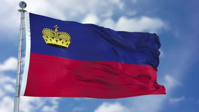 Liechtenstein Flag Animation: Stock Motion Graphics