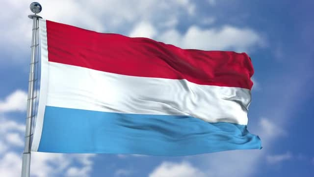 Luxembourg Flag Animation: Stock Motion Graphics