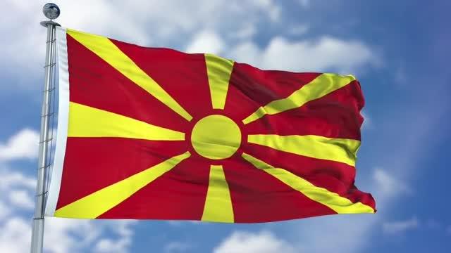 Macedonia Flag Animation: Stock Motion Graphics