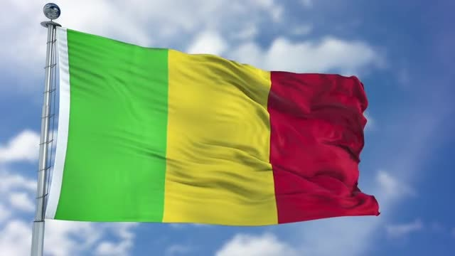 Mali Flag Animation: Stock Motion Graphics