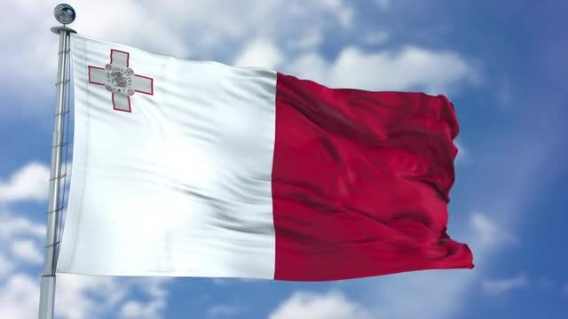 Malta Flag Animation: Stock Motion Graphics